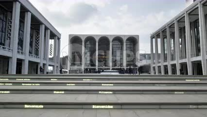 Lincoln Center in Manhattan - zooming out slowly during day in 4K and 1080 HD in NYC