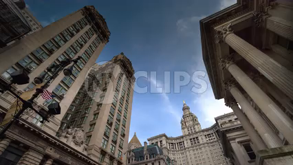 Manhattan Municipal Building - 4K timelapse during day