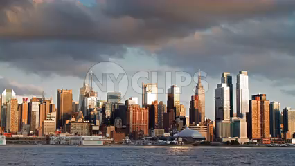 Midtown Manhattan 4K timelapse - beautiful day to night skyscrapers in NYC