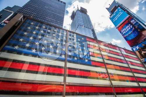 LED American flag in Times Square Manhattan NYC