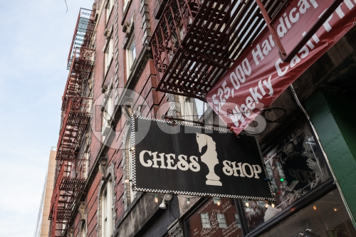 Chess Shop in Greenwich Village below Washington Square