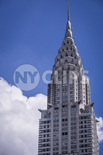 Chrysler Building in daytime - famous Midtown Manhattan skyscraper NYC