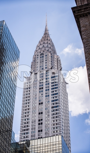 tall famous skyscraper in Manhattan - Chrysler Building in NYC