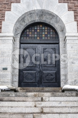 church steps and front doors