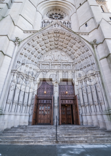Cathedral front doors and steps