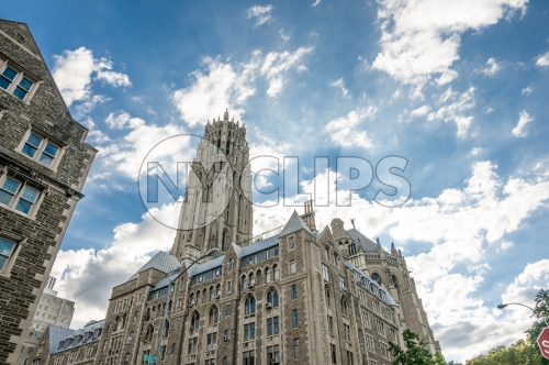 Cathedral of Saint John the Divine in Uptown Manhattan - Harlem church in HDR