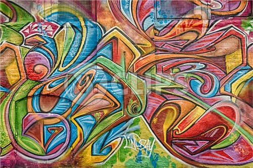 colorful graffiti on wall - urban art