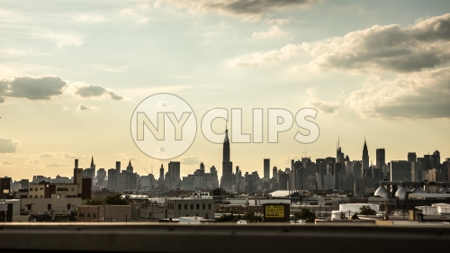 Manhattan skyline - city view with Empire State Building seen from Brooklyn in NYC