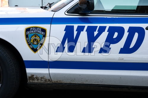 NYPD cop car - police vehicle close