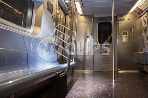 interior subway car - empty carriage