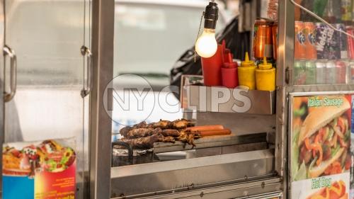 hot dog vendor - street food cart