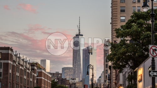 Freedom Tower at sunset