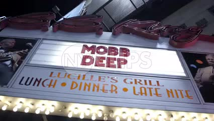 Mobb Deep show sign at BB Kings nightclub venue