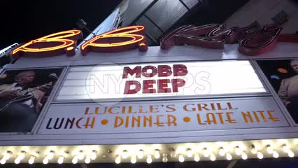 Mobb Deep marquee at BB Kings famous concert venue