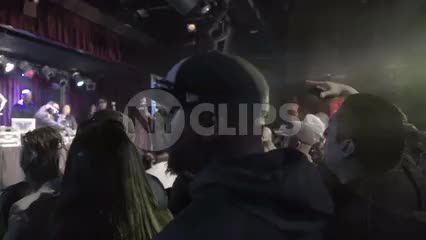 hip hop crowd cheering - standing in BB Kings concert - fans watching music show