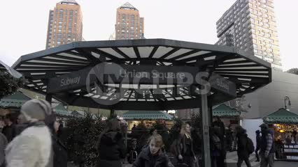 Union Square subway station exterior - teepee - hut - umbrella shaped entrance