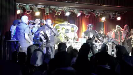 Smif n Wessun on stage rapping at BB Kings show - concert lights and fans in crowd