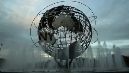 globe sculpture in Queens NYC