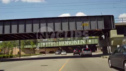 Hoboken sign on underpass in New Jersey