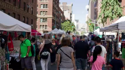 street fair on University Place in Greenwich Village on summer day in NYC