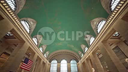 two women descending downstairs in Grand Central Station in NYC