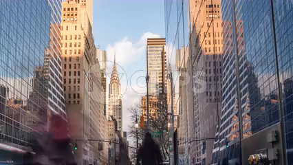 seamless loop of Chrysler Building in Midtown in 4K timelapse from day to night in seamless loop - 4K in Manhattan