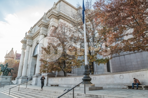 American Museum of Natural History entrance front stairs in Manhattan New York City NYC